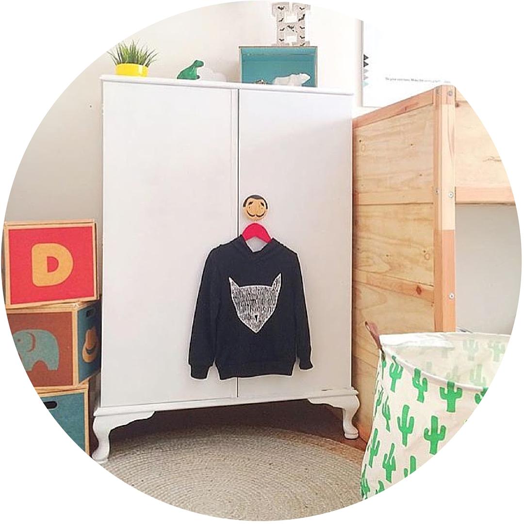Upcycled wardrobe