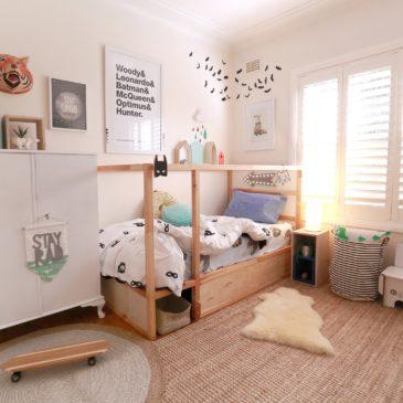 Boys bedroom, IKEA KURA hack, TUBU Kids