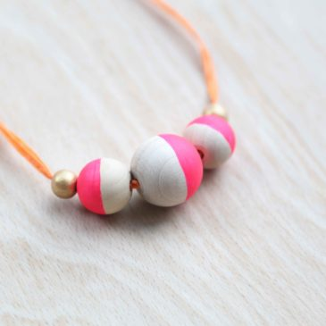 How to make kids wooden bead necklaces