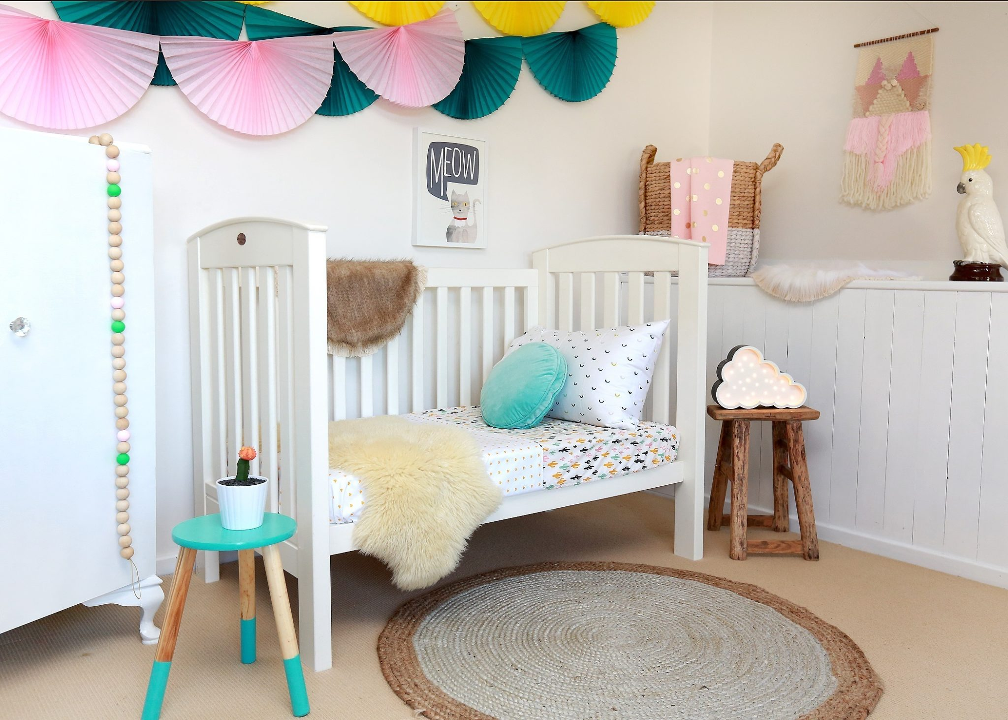 Girls nursery, colourful