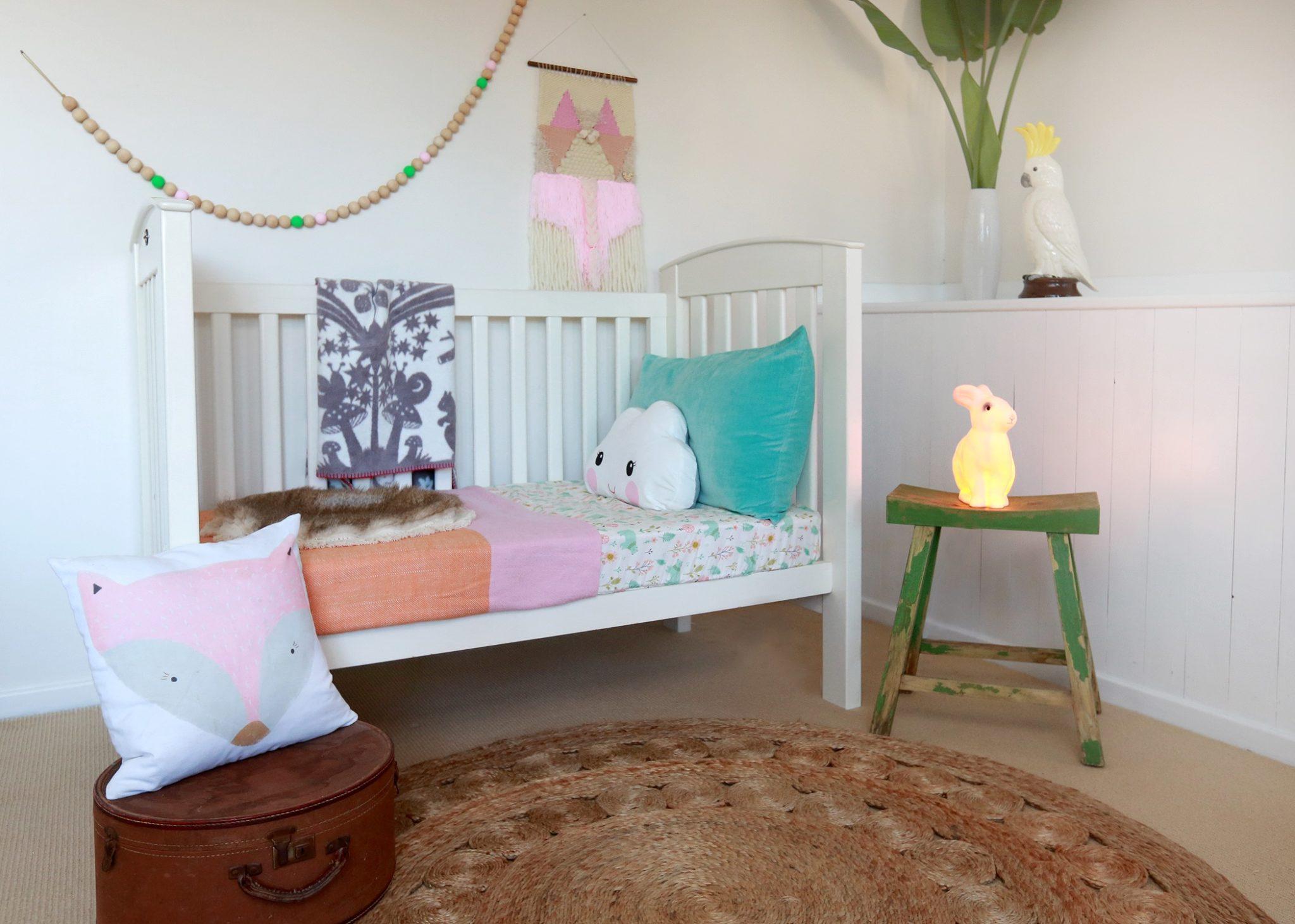 Girls woodland nursery, kids rooms inspiration