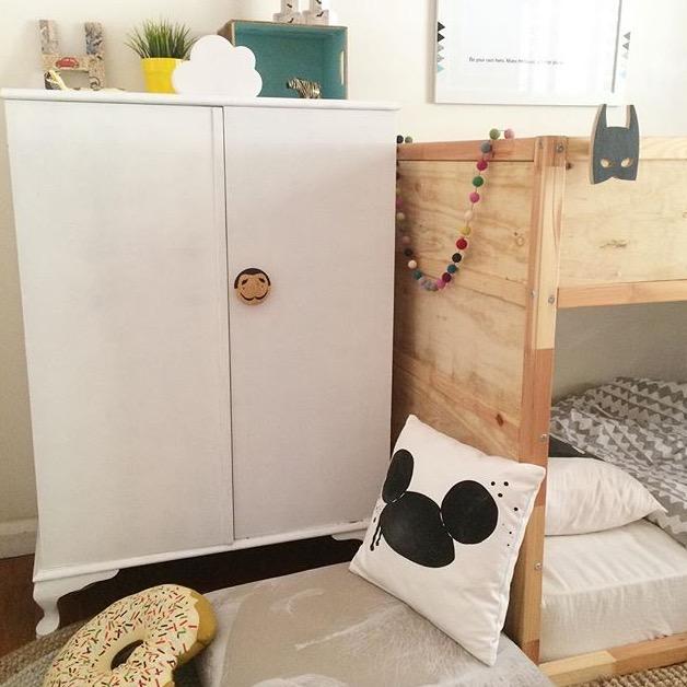 Vintage wardrobe, kids furniture, kids rooms inspiration