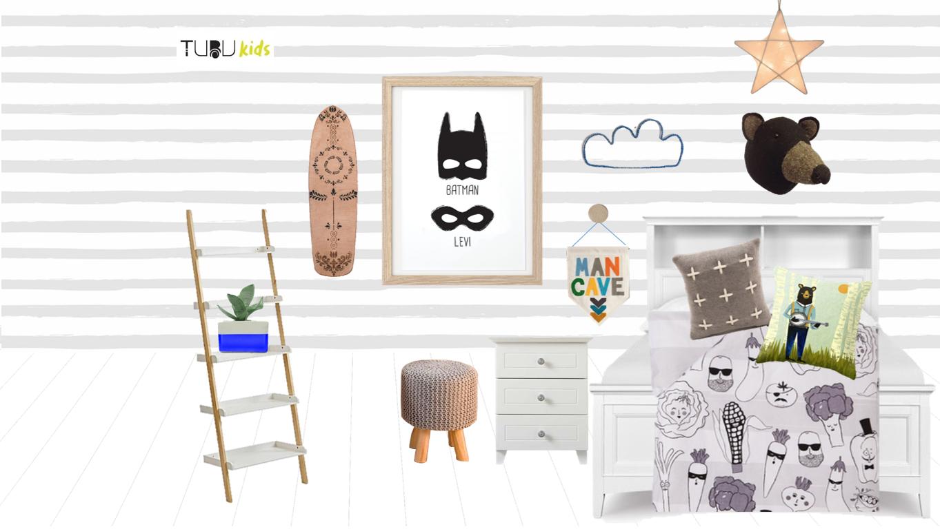 Design board, Bobby's bedroom