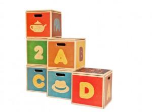 3 x kids storage boxes
