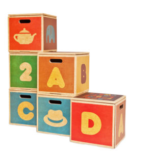 Green Lullaby kids storage boxes