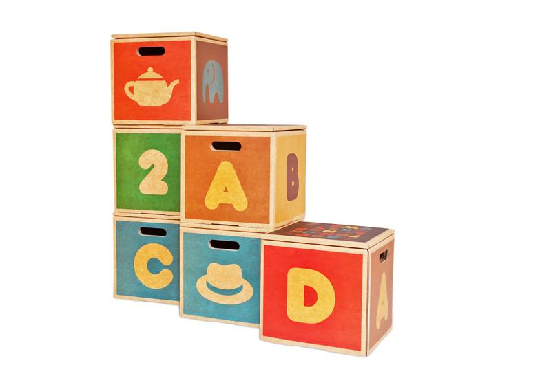 Green Lullaby kids storage boxes
