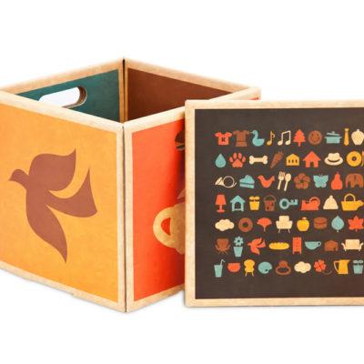 Green Lullaby kids storage box