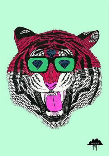 Gino the tiger print, Mulga the artist