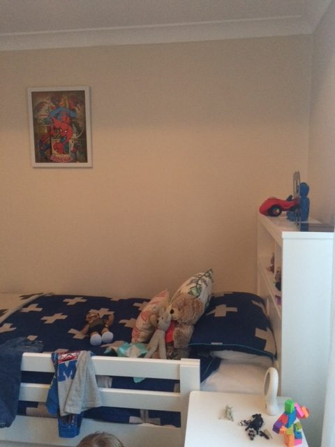 Boys room, before makeover