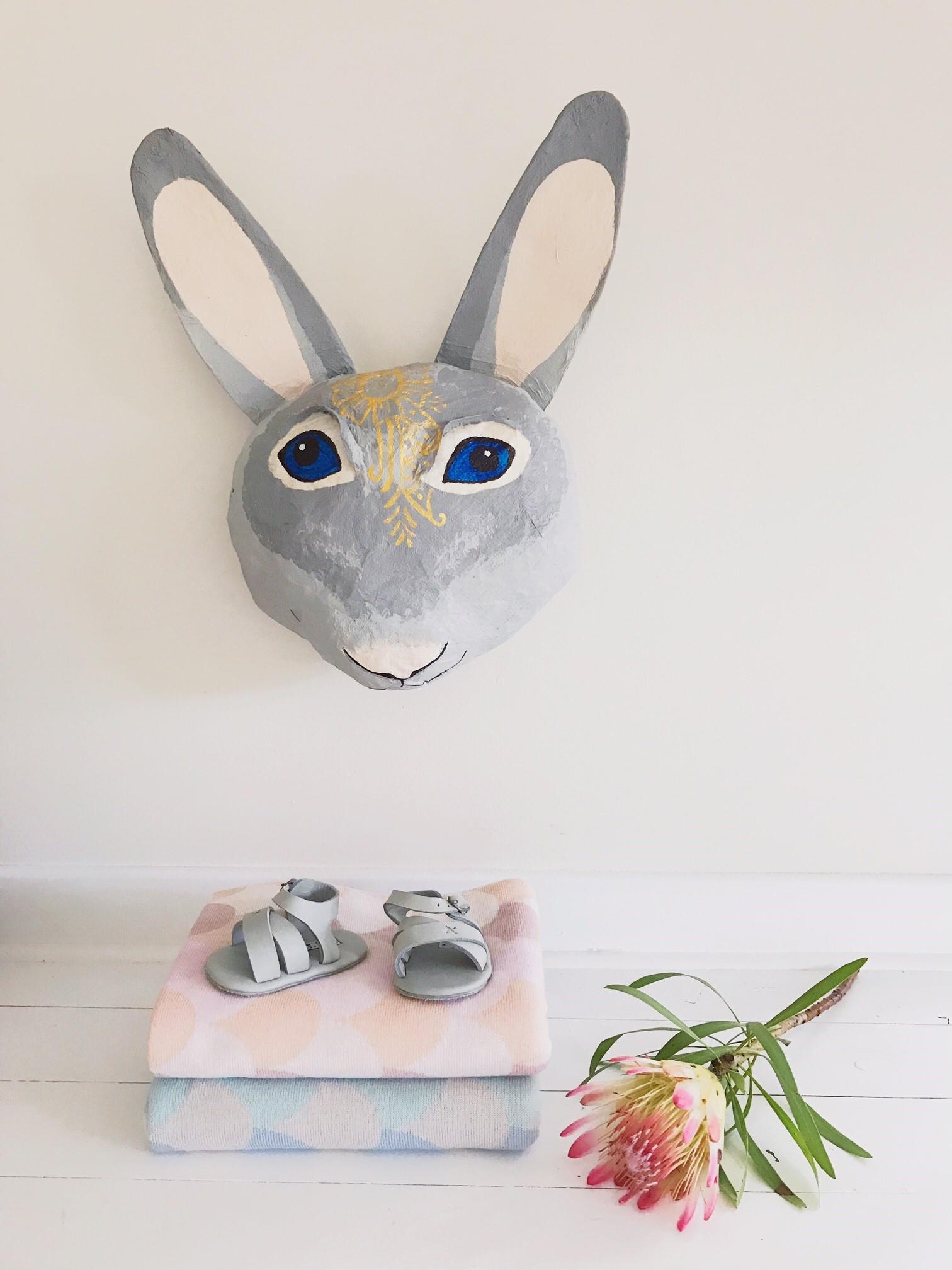 Heidi the Hare, paper mache