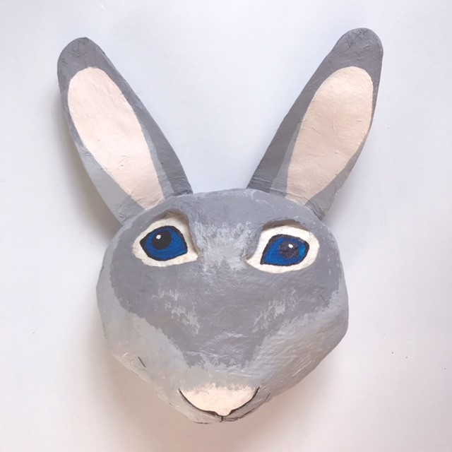 animal head paper mache