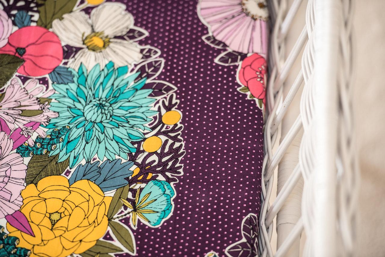 Nursery decor, bassinet sheet, Moonlit Sleep