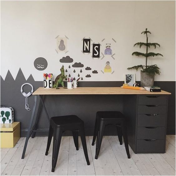 Kids desk and stools
