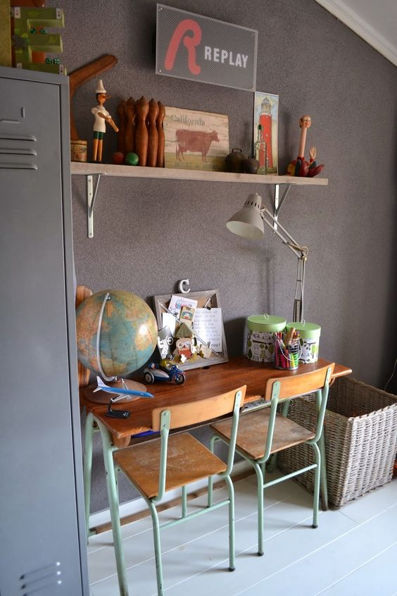 kids table and chairs vintage inspo