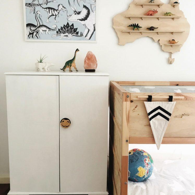 Vintage wardrobe, kids room, storage ideas
