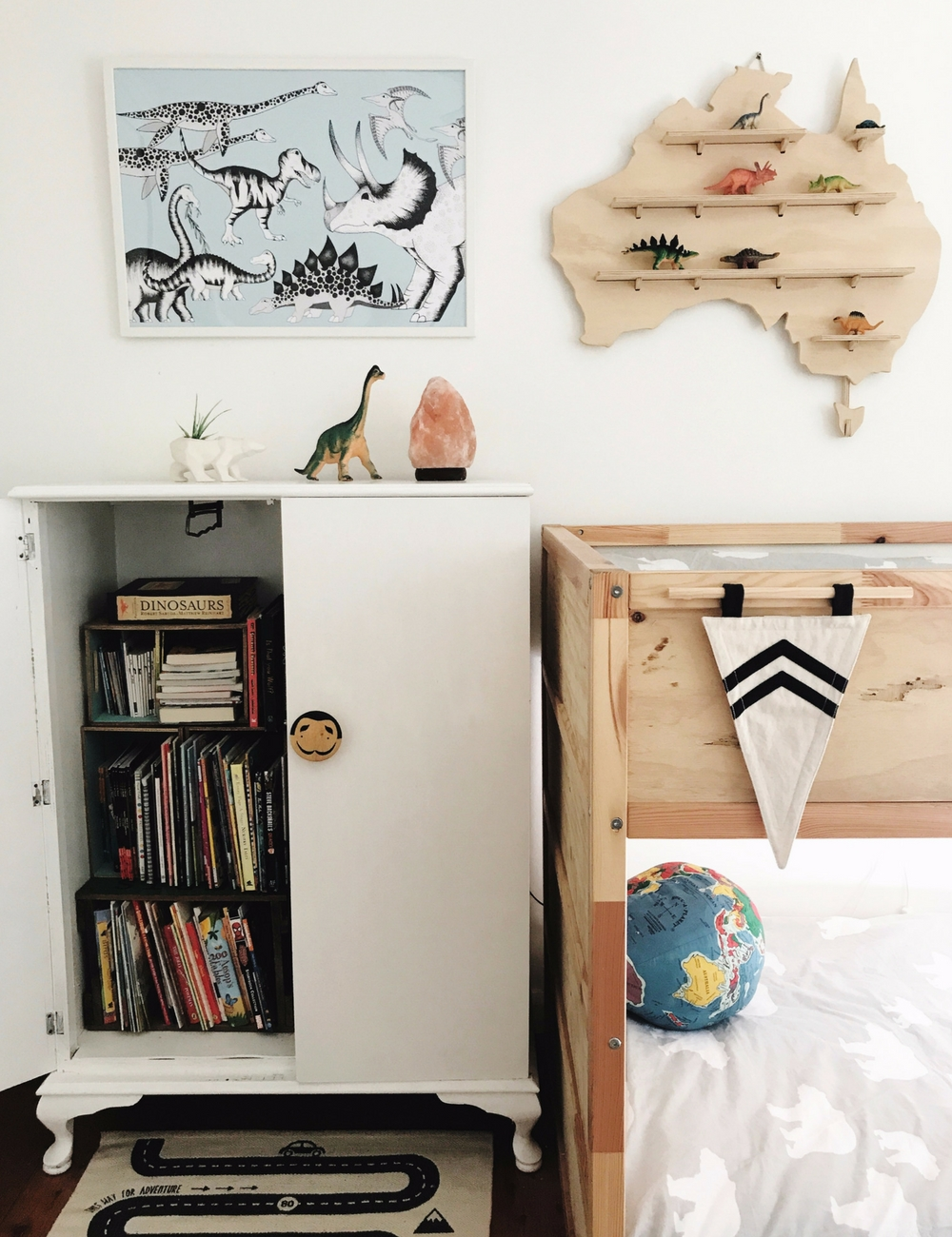 Vintage wardrobe, kids room, storage ideas