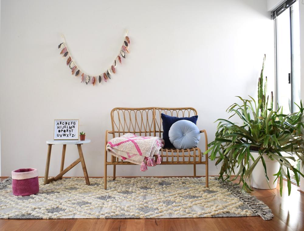 Moroccan trellis rug, Happy As Larry Designs, kids rug