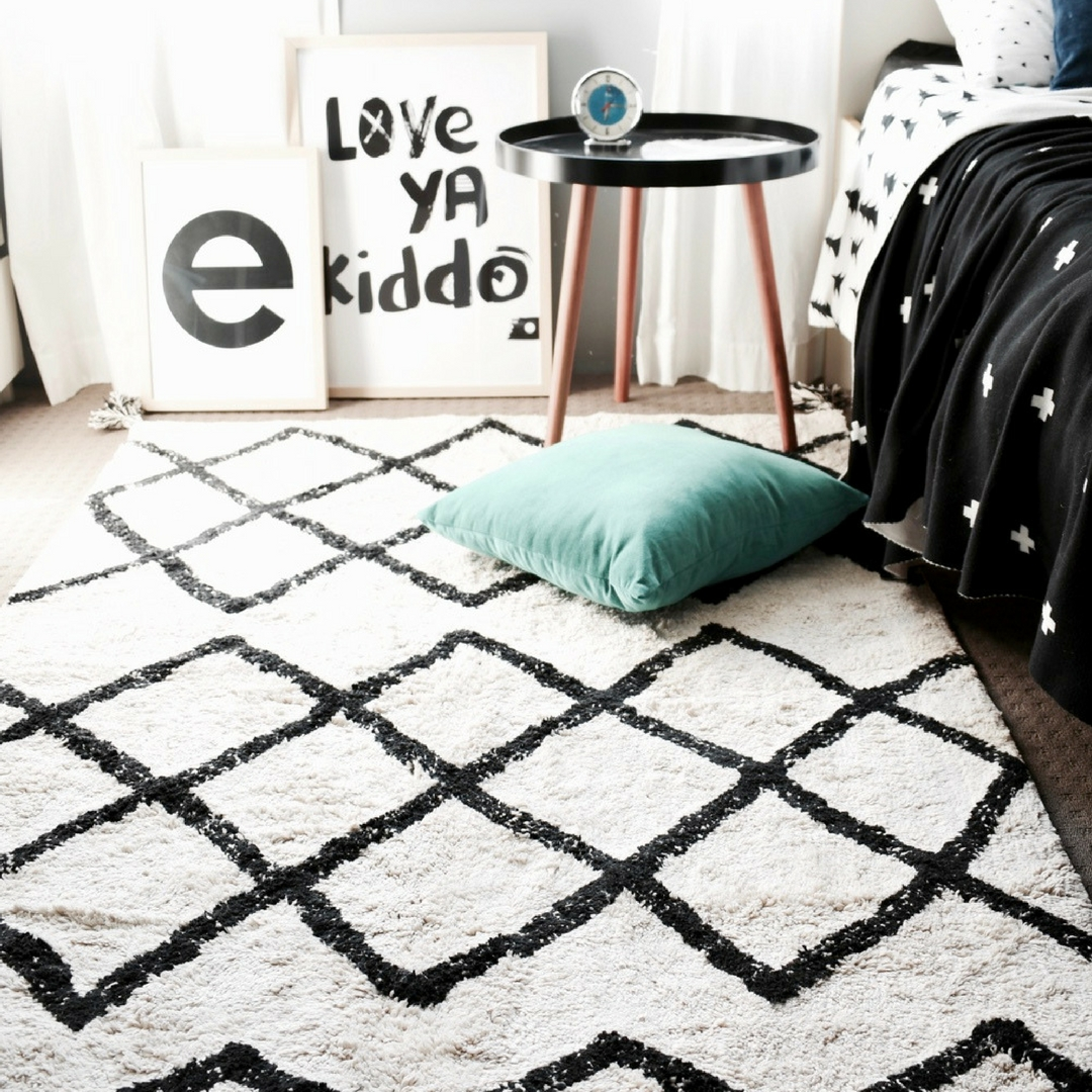 cotton rug, kids rug, Happy As Larry