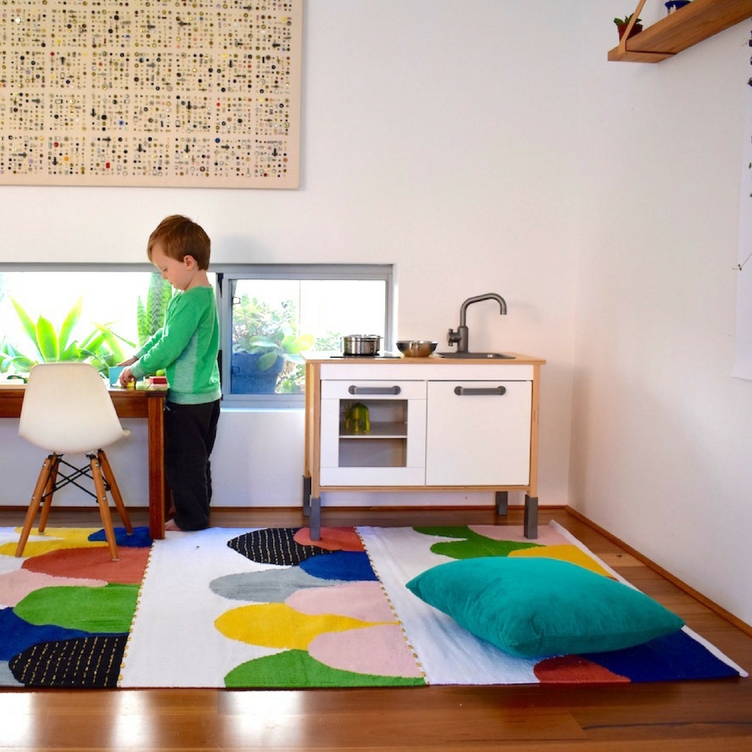 Happy As Larry, cotton rug, kids rug