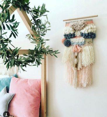 Custom wall weave, Zoe Loves Ava