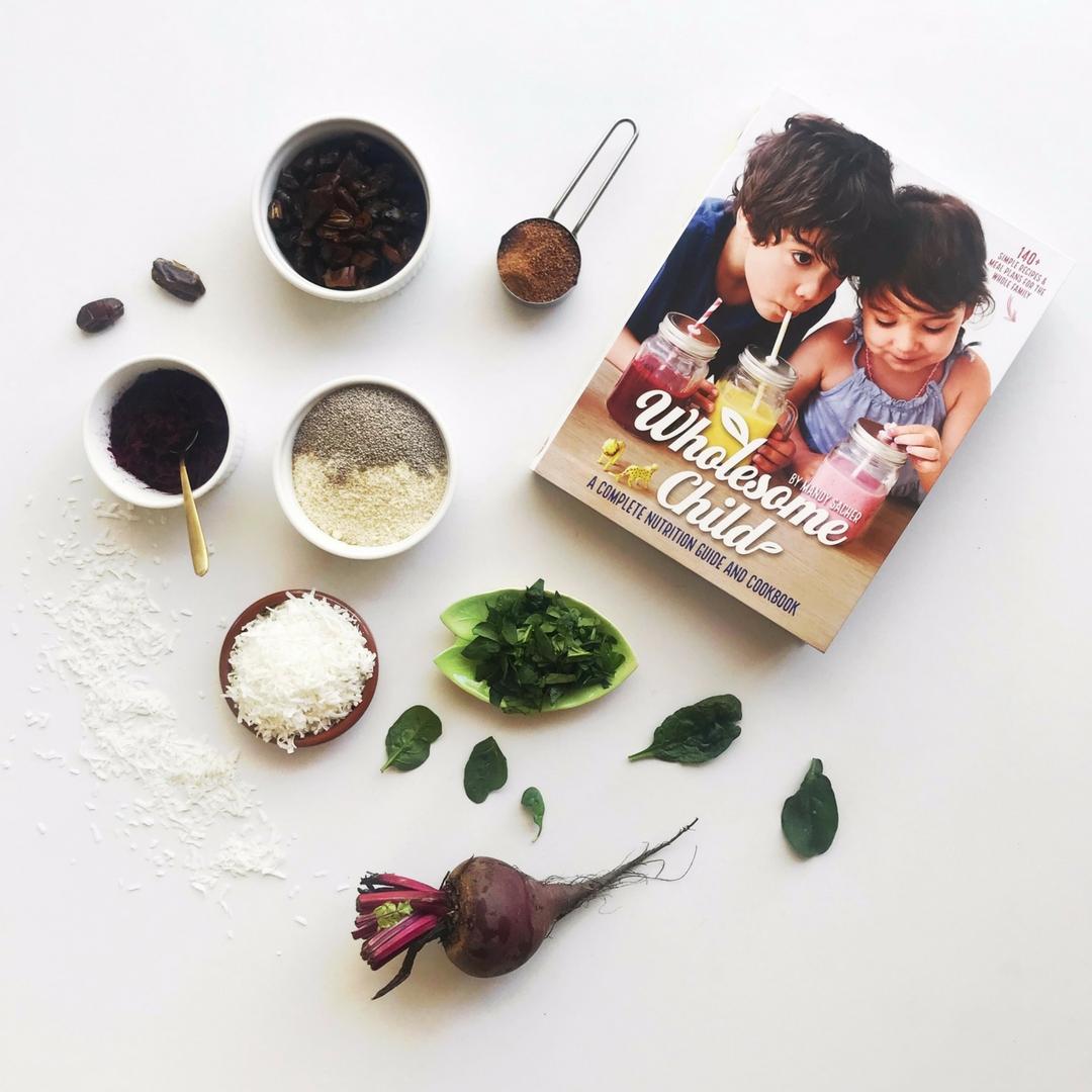 Beetroot Bliss Balls ingredients, Wholesome Child, Image TUBU Kids