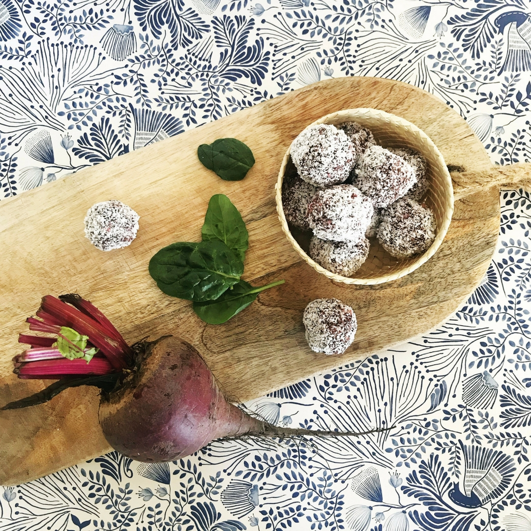 Beetroot Bliss Balls, Wholesome Food by Mandy Sacher, Image by TUBU Kids