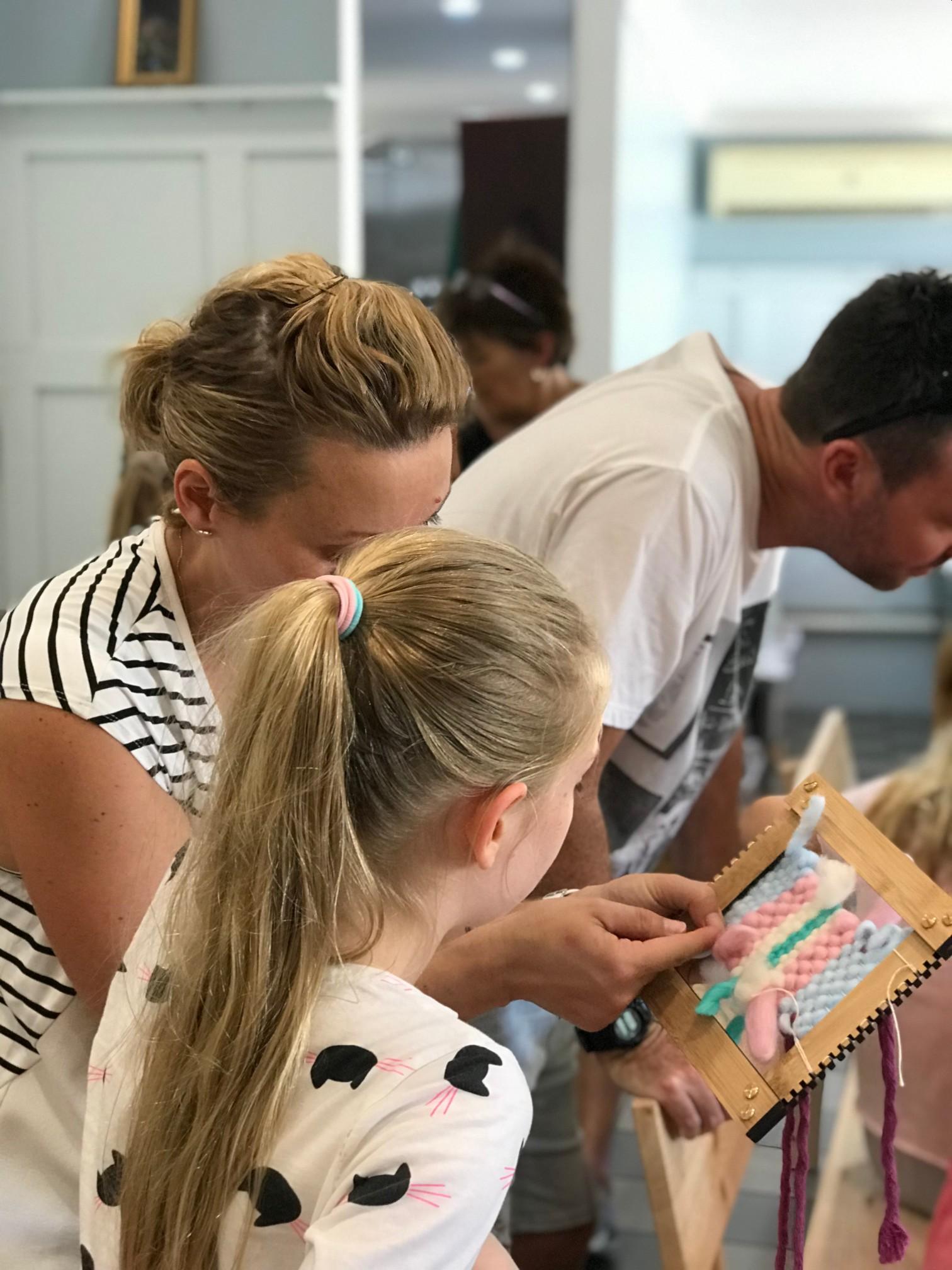 kids weave workshop